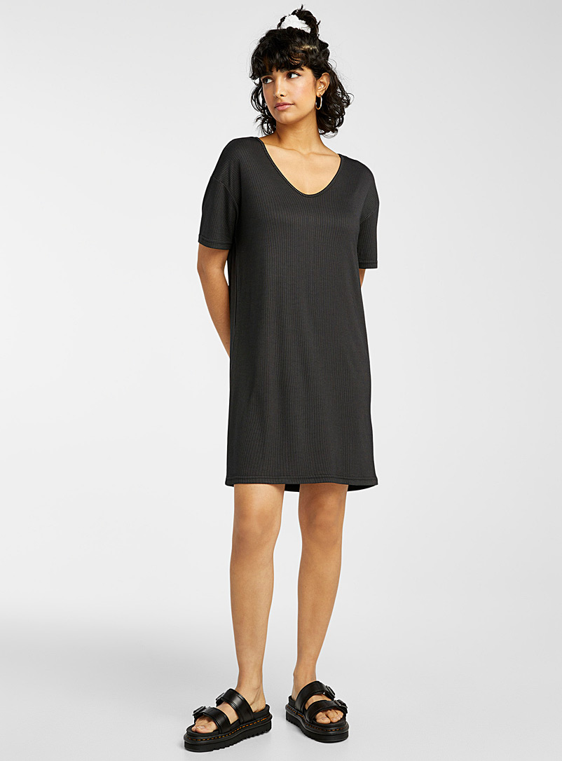 Twik Black TENCEL* modal T-shirt dress for women