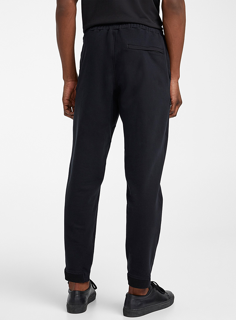 Le 31 Black Organic cotton sweatpant for men