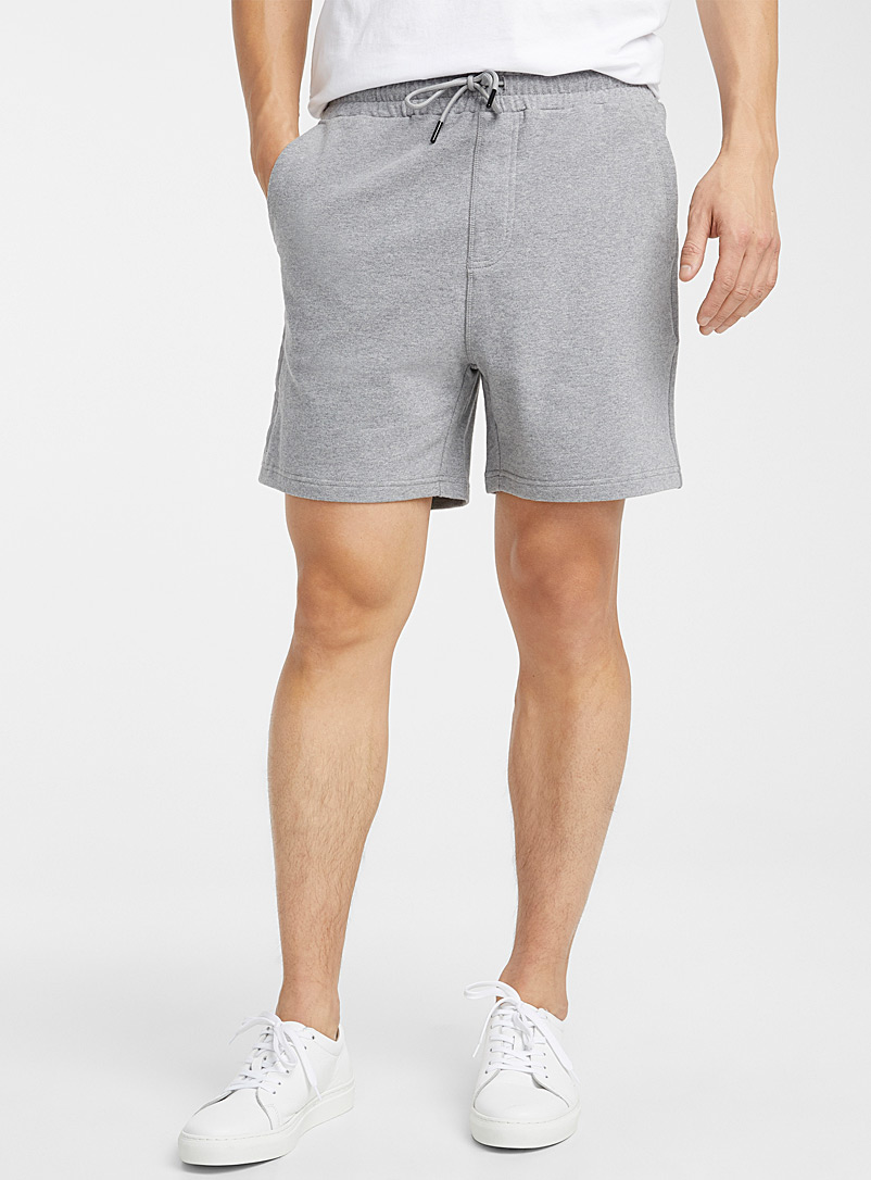 Le 31 Grey Sweatpant shorts for men
