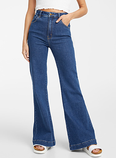 Rolla's Slate Blue Eastcoast flared jean for women