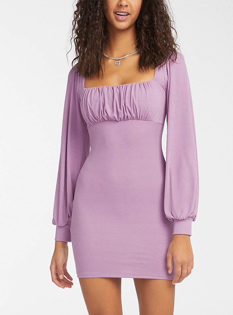 Twik Lilacs Bubble-style ribbed dress for women