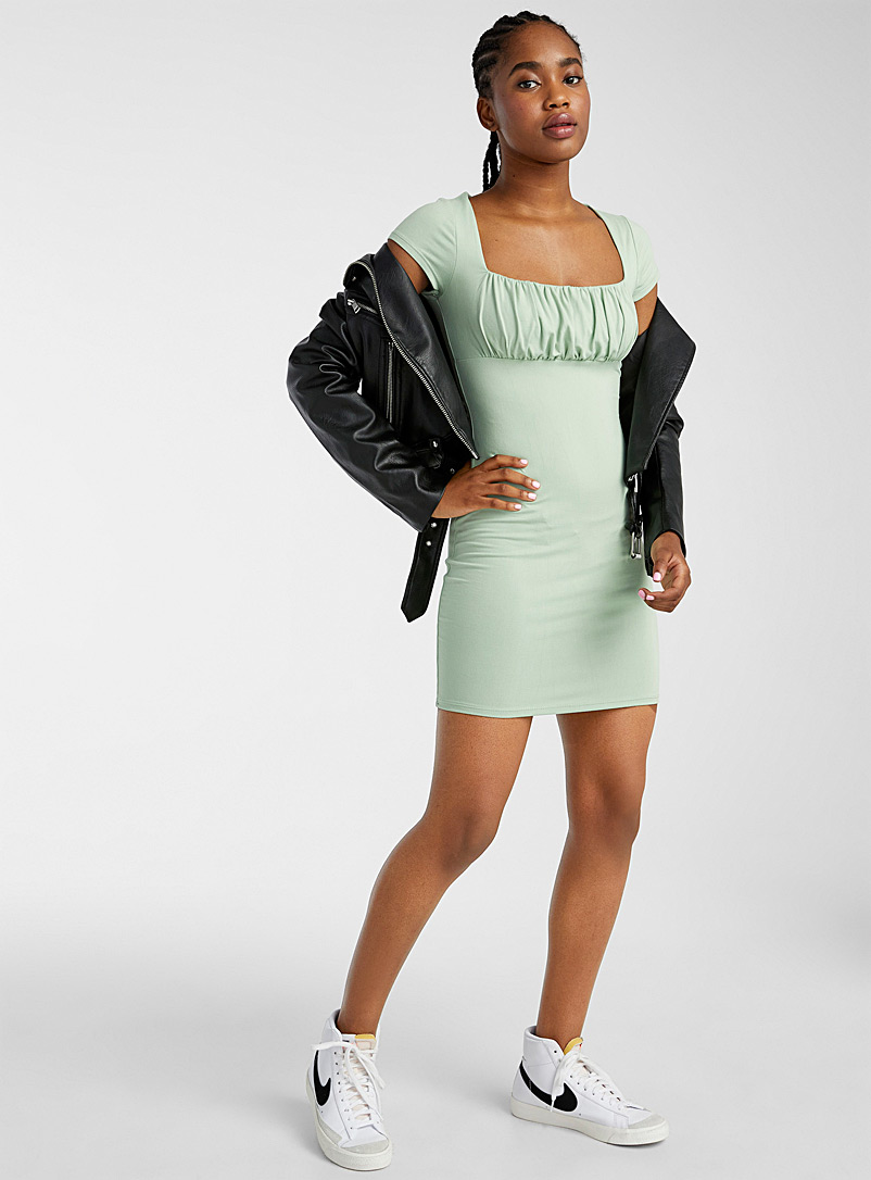 Twik Assorted Ruched bustier slim-fit dress for women