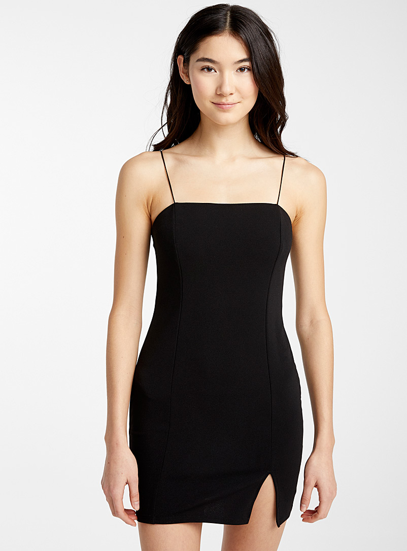 Twik Black Fitted crepe dress for women