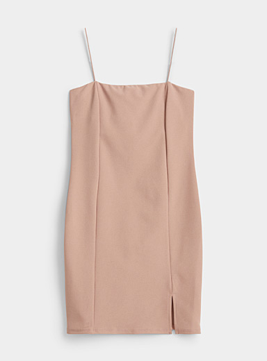 Fitted crepe dress