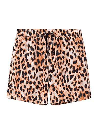 Nikben Patterned Brown Animal print eco-friendly swim short for men