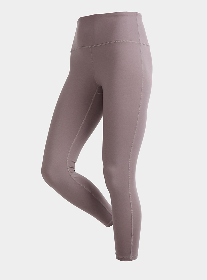 Taupe pocketed high-rise 7/8 legging