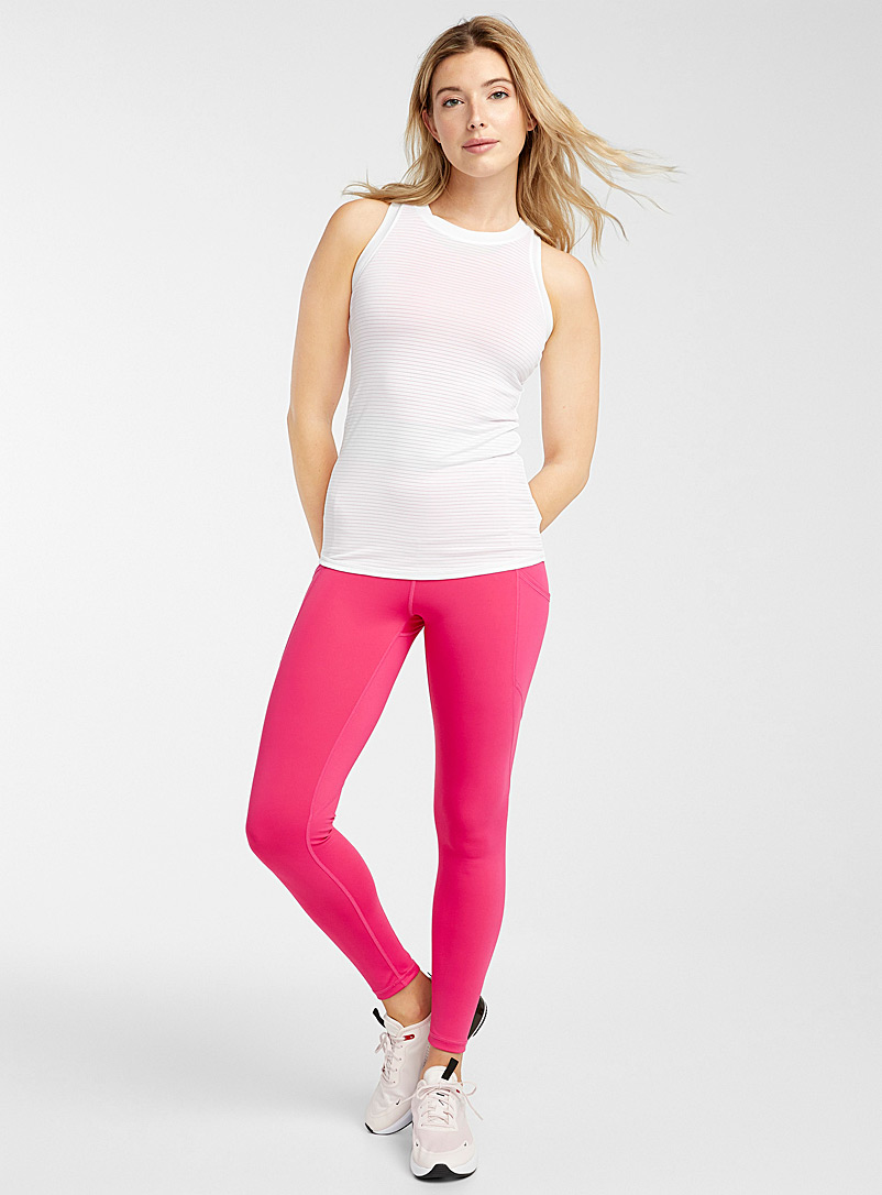 Mono B Cherry Red High-rise legging with pockets for women