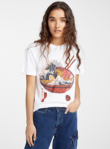 Le t-shirt vague de ramen