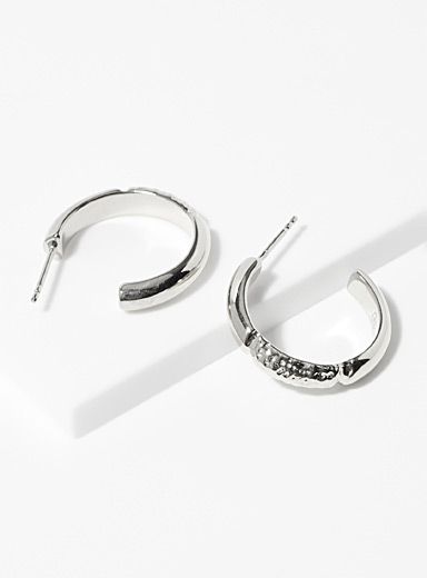 Nina.Nanas Silver Maïa silver hoops for women