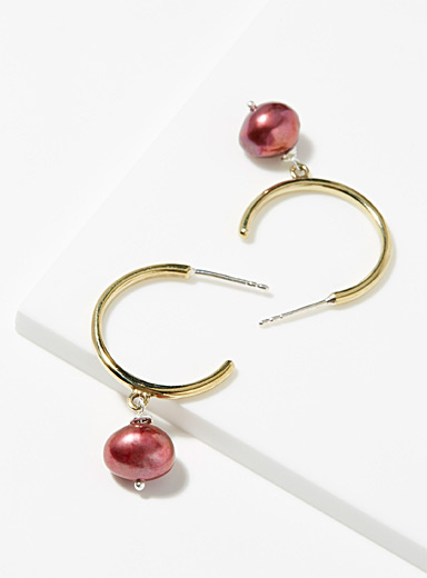 Nina.Nanas Assorted Béatrice burgundy earrings for women