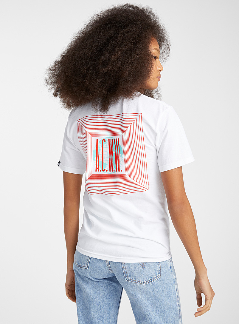 The Artist Collective: Le t-shirt World Wilde Blanc à motif pour femme