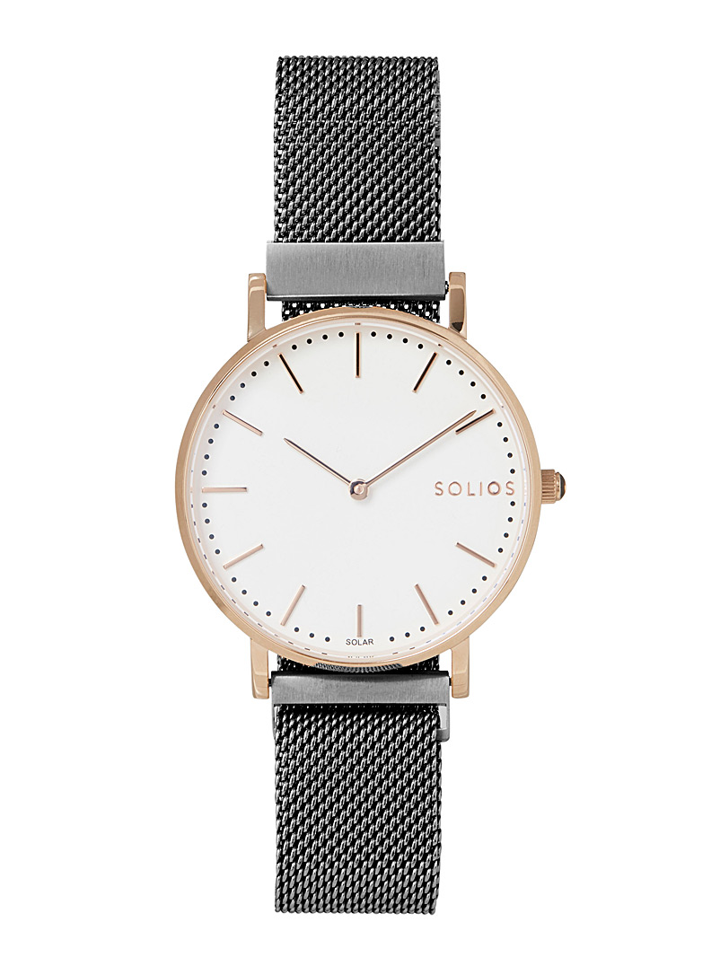 Solios Grey Gamma stainless steel watch for women