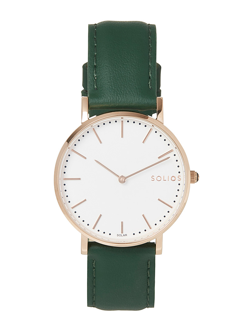 Solios Green Gamma eco-friendly leather watch for women