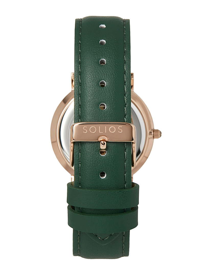 Gamma eco-friendly leather watch - Canadian Brands - Green