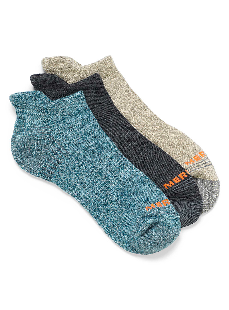 Recycled polyester heather ankle socks  3-pack