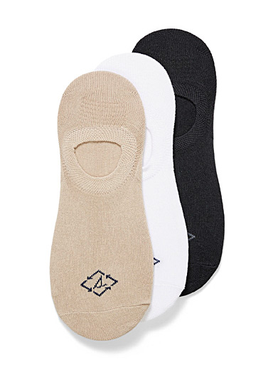 Recycled polyester neutral ped socks 3-pack