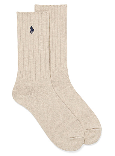 Polo Ralph Lauren Light Brown Classic ribbed socks for men