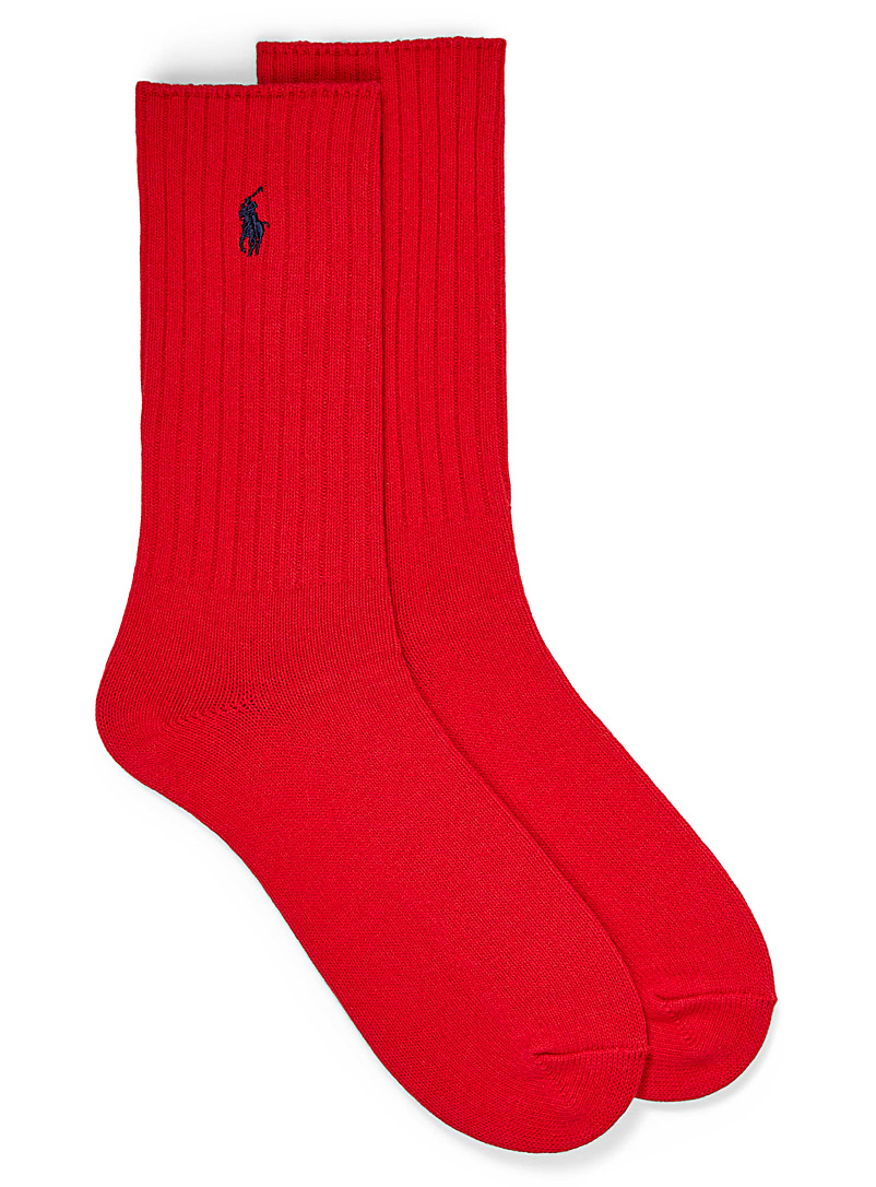 Polo Ralph Lauren Red Classic ribbed socks for men