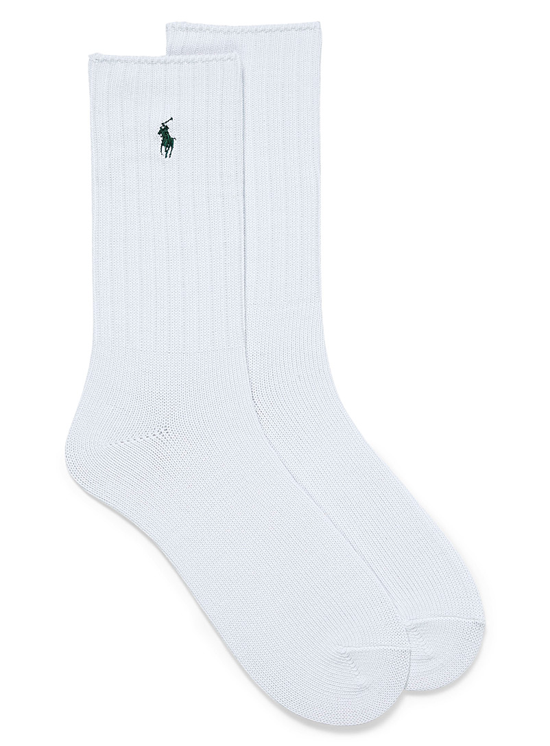 Polo Ralph Lauren White Logo recycled polyester ribbed socks for men