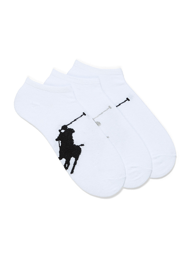 Polo Ralph Lauren White Polo player ankle socks  3-pack for men