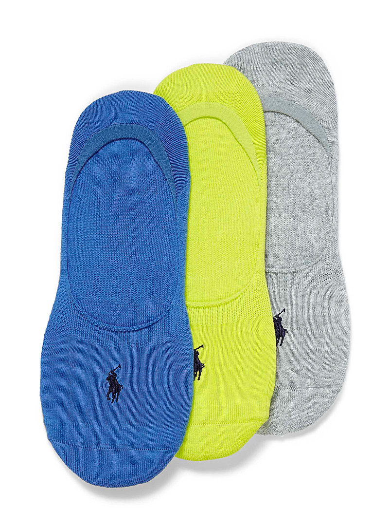 Polo Ralph Lauren Teal Colourful ped socks  3-pack for men