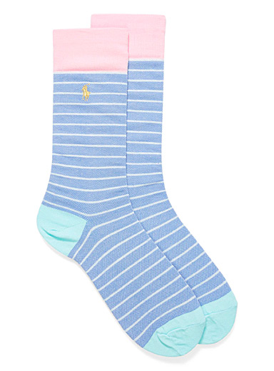 Pastel block striped socks