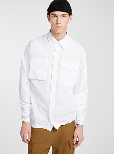 White utility shirt  Modern fit