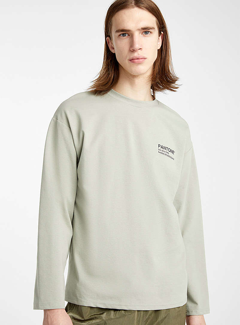 Pantone shade T-shirt - Long sleeves - Mossy Green