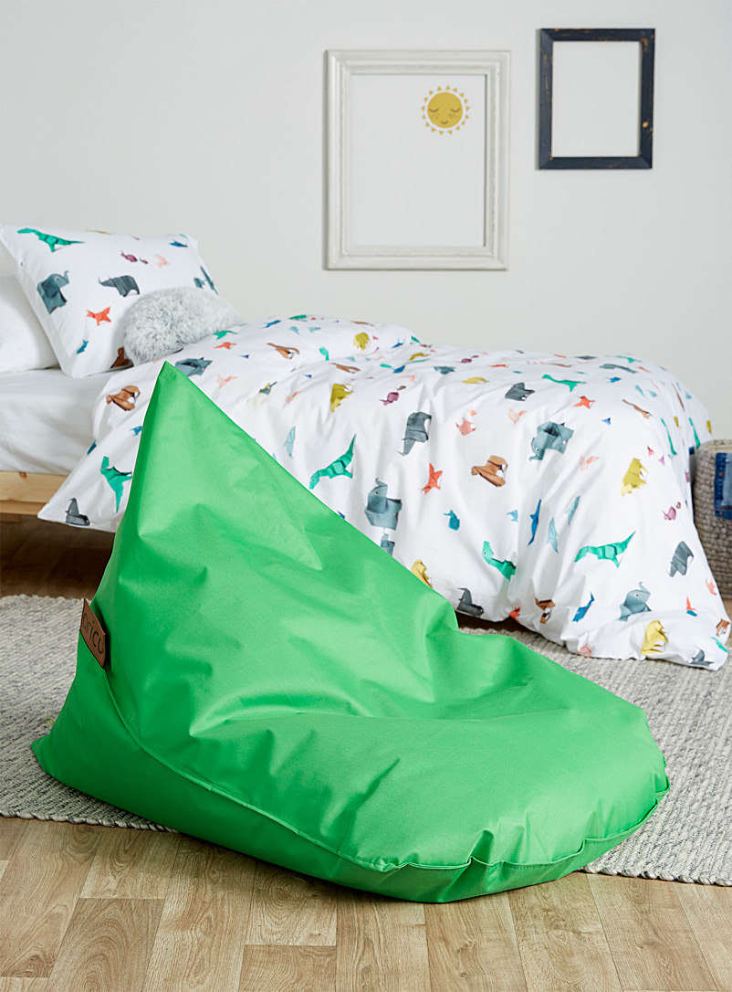 Arico Green Children's indoor poof