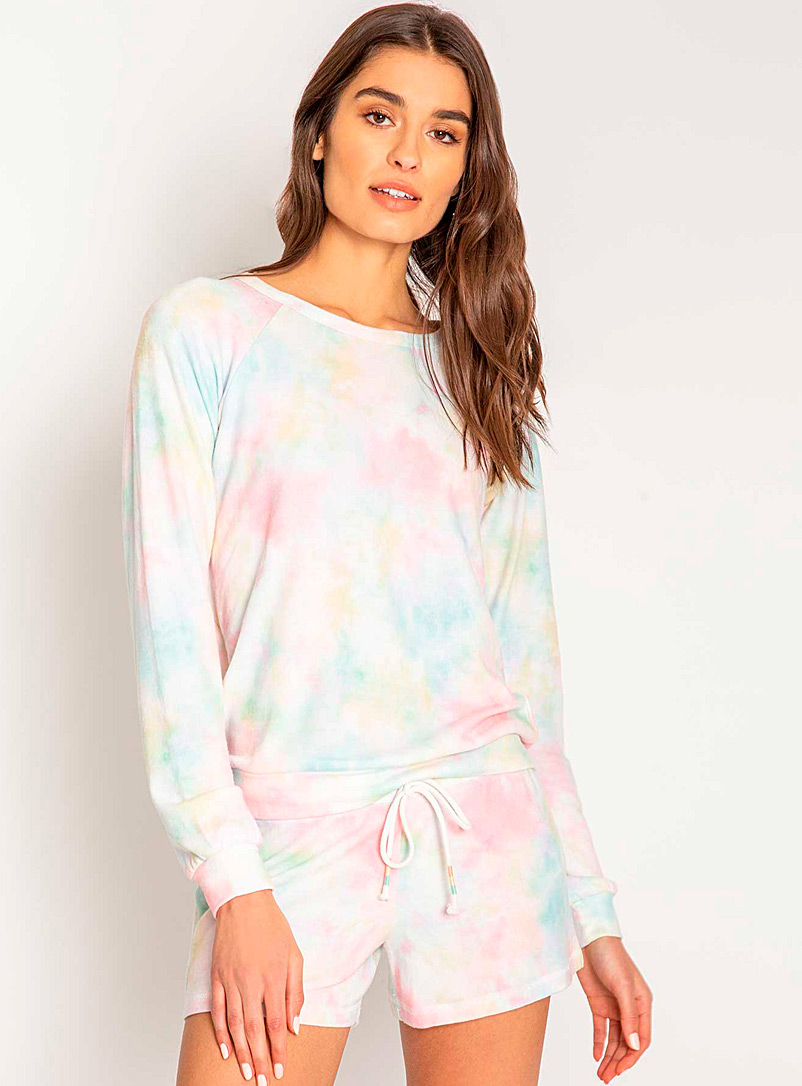 P.J. Salvage Assorted Pastel tie-dye sweater for women