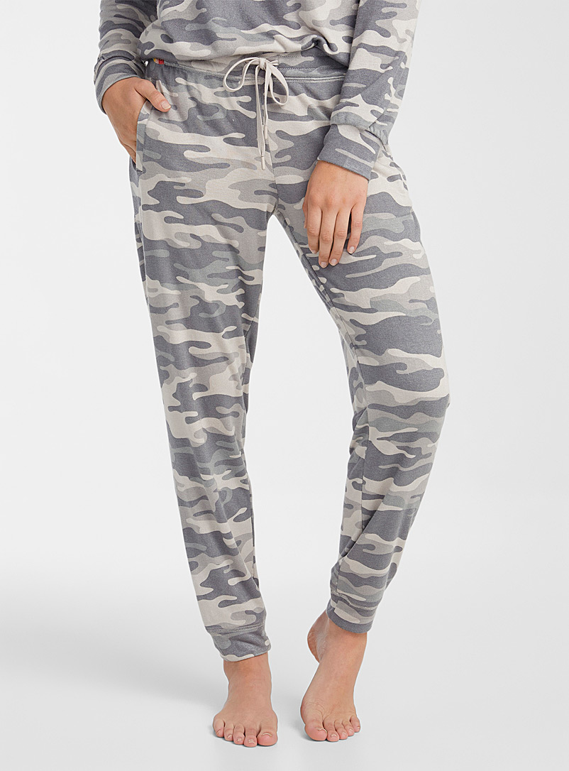 P.J. Salvage Patterned Green Camo Cool joggers for women