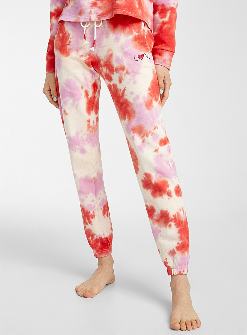 P.J. Salvage Pink Pink tie-dye joggers for women