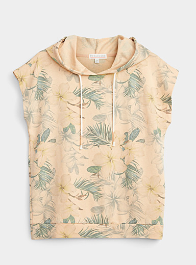 Hawaiian flora hooded sweatshirt