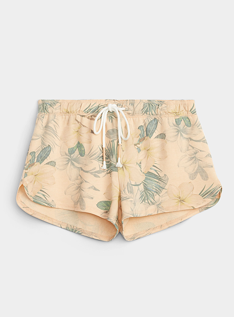 P.J. Salvage Coral Hawaiian flora lounge boxer for women