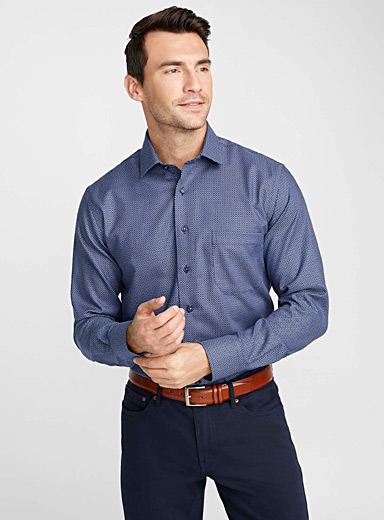 Jacquard micro pattern shirt  Regular fit