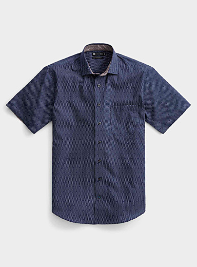 Non-iron micro pattern shirt  Comfort fit