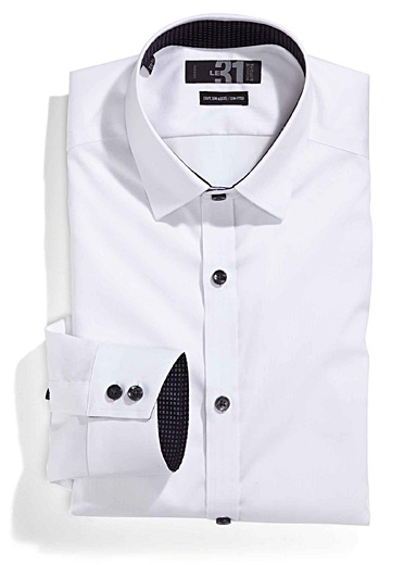 Non-iron dress shirt  Semi-tailored fit