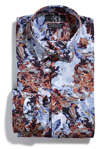 Floral painting shirt  Semi-tailored fit