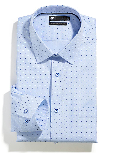 Optical jacquard shirt  Comfort fit