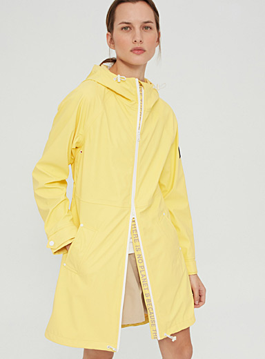 Ecoalf Bright Yellow Picton recycled polyester raincoat for women