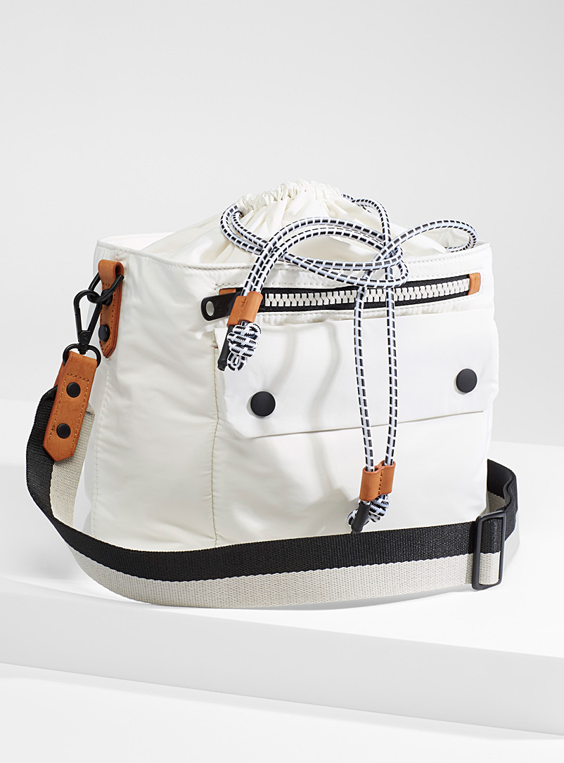ECOALF White Olivia shoulder bag for women
