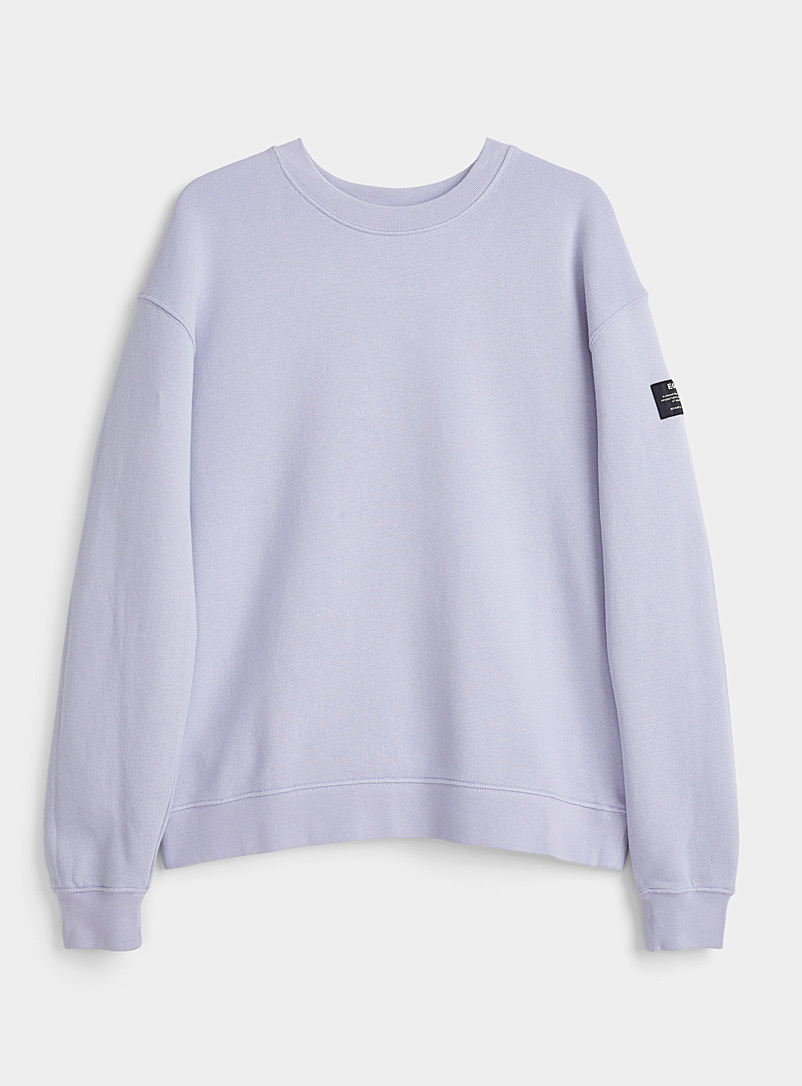 Ecoalf Lilacs Because back message sweatshirt for women
