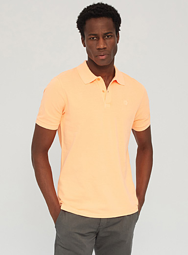 Faded organic cotton polo