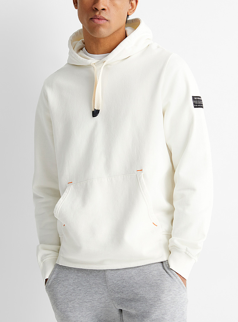 Ecoalf Ivory White Act Now hoodie for men