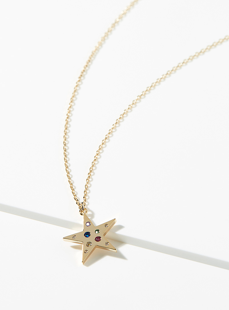 Simons Assorted  Sparkling star pendant necklace for women