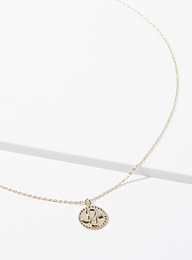 Simons Gold Reptile pendant necklace for women