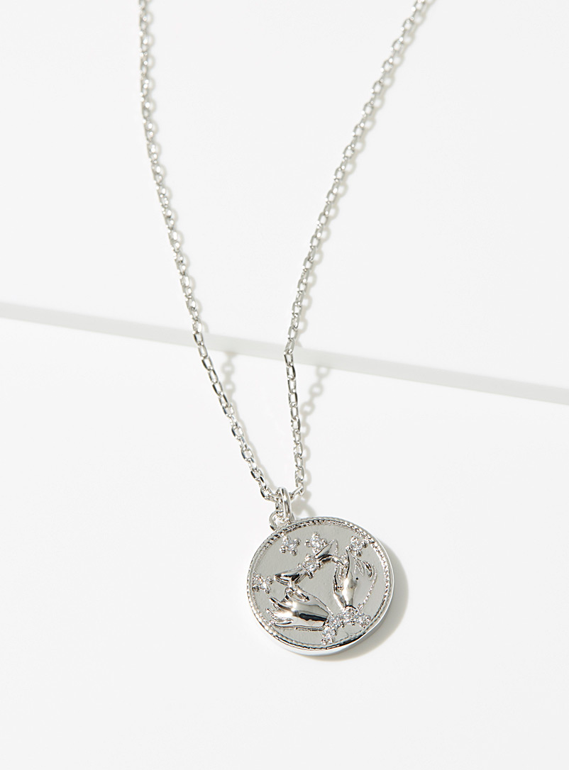 Simons Silver Coin pendant necklace for women