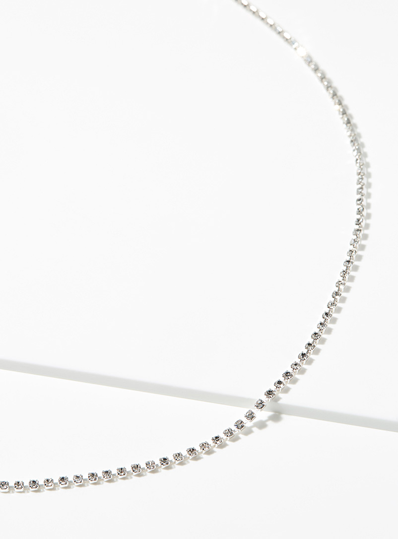 Simons Silver Bright choker for women