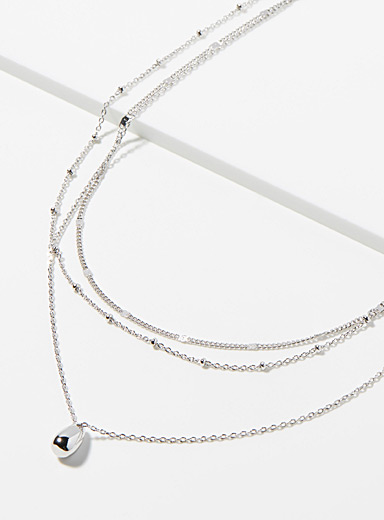 Simons Silver Drop pendant necklace for women