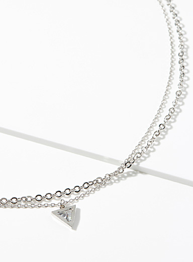 Simons Silver Silver multi-strand necklace for women